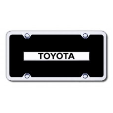 Toyota Chrome/Black Acrylic License Plate Kit