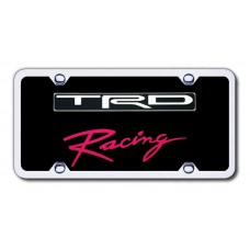 TRD Racing Chrome/Black Acrylic License Plate Kit