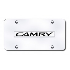 Camry Name Chrome on Chrome License Plate