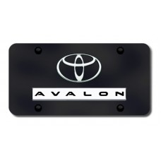 Dual Avalon Chrome on Black License Plate