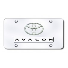 Dual Avalon Chrome on Chrome License  Plate