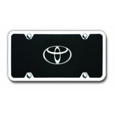 Toyota Chrome on Black Acrylic License Plate Kit