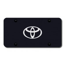 Toyota Laser Etched (Logo Only) on Black License Plate
