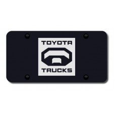 Toyota Truck Laser Etched Black License Plate