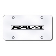 Rav4 Name Chrome on Chrome License Plate