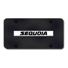 Sequoia Name Chrome on Black License Plate