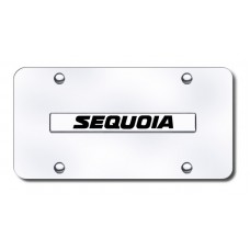 Sequoia Name Chrome on Chrome License Plate