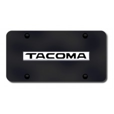 Tacoma Name Chrome on Black License Plate