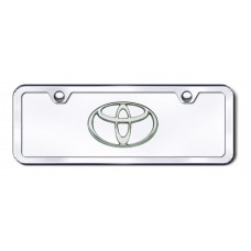 Toyota Logo Chrome on Chrome Mini License Plate Kit