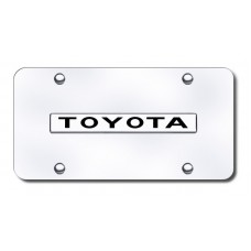 Toyota Name Chrome on Chrome License Plate