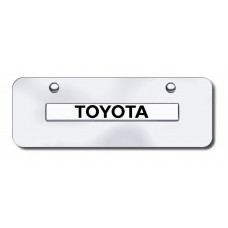 Toyota Name Chrome on Chrome Mini LicensePlate