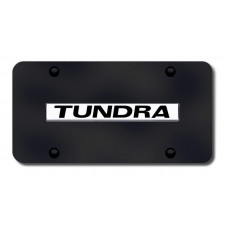 Tundra Name Chrome on Black License Plate
