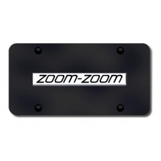 Zoom-Zoom Name Chrome on Black License Plate