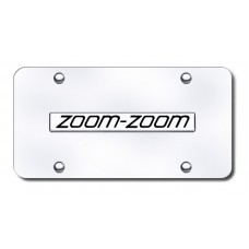 Zoom Zoom Name Chrome on Chrome License Plate