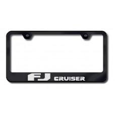 FJ Cruiser Laser Etched Black License Plate Frame