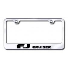 FJ Cruiser Laser Etched Chrome Metal License Plate Frame