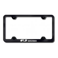 FJ Cruiser Wide Body Laser Etched Black License Plate Frame