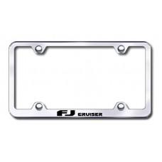 FJ Cruiser Wide Body Laser Etched Chrome Metal License Plate Frame