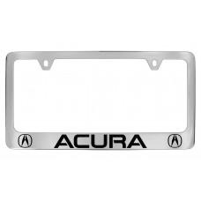 Acura With 2  Logos - Chrome Plated Brass Frame