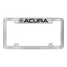 Acura - Acura  Logo - Top Engraved - Chrome Plated Brass Frame