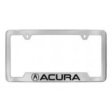 Acura - Acura  Logo - Bottom Engraved - Chrome Plated Brass Frame