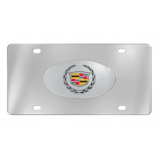 Cadillac- Cadillac Logo  - Chrome Plated Brass Emblem Attached To Stainless Plate