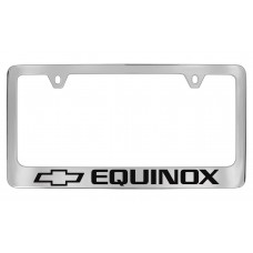 Chevrolet -Equinox  W / 1 Logo - Chrome Plated Brass Frame