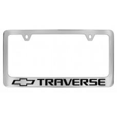Chevrolet -Traverse  W / 1 Logo - Chrome Plated Brass Frame
