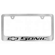 Chevrolet -Sonic  W / 1 Logo - Chrome Plated Brass Frame