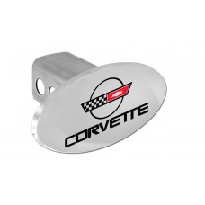 Corvette Vintage: Engraved C-4 Logo & Wordmark Chrome Plated Brass Hitch Cover W/ 2' Rec. - Box 150 W/Components