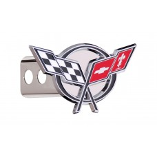 Corvette 3d: Chrome Plated Brass Hitch Cover W/ 2' Rec. - Box 150 W/Components