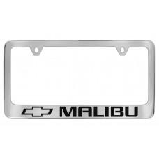 Chevrolet - Malibu    W / 1 Logo - Chrome Plated Brass Frame