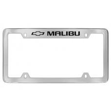 Chevrolet - Malibu W / 1 Logo - Top Engraved - Chrome Plated Brass Frame