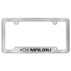 Chevrolet - Malibu W / 1 Logo - Bottom  Engraved - Chrome Plated Brass Frame
