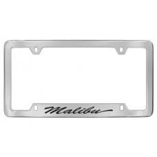 Chevrolet - Malibu - Bottom  Engraved - Chrome Plated Brass Frame