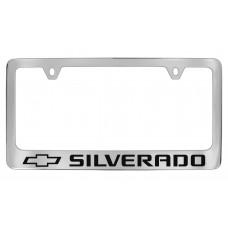 Chevrolet - Silverado W / 1 Logo - Chrome Plated Brass Frame
