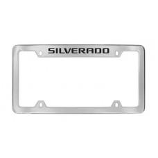 Chevrolet - Silverado - Top Engraved - Chrome Plated Brass Frame