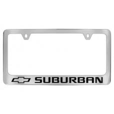 Chevrolet - Surburban W / 1 Logo - Chrome Plated Brass Frame