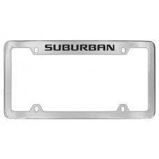 Chevrolet - Suburban - Top Engraved - Chrome Plated Brass Frame