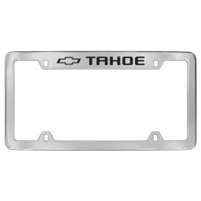 Chevrolet - Tahoe W / 1 Logo - Top  Engraved - Chrome Plated Brass Frame