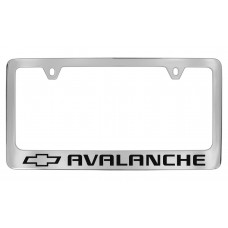 Chevrolet -Avalance  W / 1 Logo - Chrome Plated Brass Frame