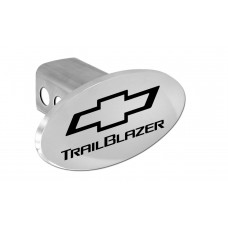 Trailblazer With New Logo - Chrome Plated Brass Oval Hitch Cover W/ 2' Rec. - W/Components