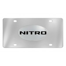 Dodge - Nitro - Chrome Plated Solid Brass Emblem  Attached To A Stainless Steel Plate