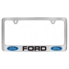 Ford - Ford W / 2 Logos - Chrome Plated Brass