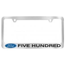 Five Hundred Solid Brass License Plate Frame