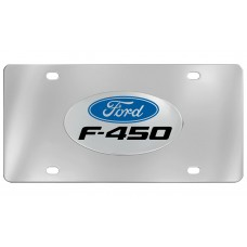 Ford - F-450 With Logo Attached To Stainless Steel Plate