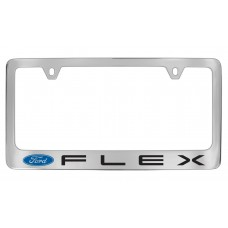Ford - Flex  W / 1 Logo - Chrome Plated Brass