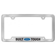 Ford - Built (Ford Logo) Tough - Bottom Engraved - Chrome Plated Brass