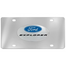 Ford - Explorer With Logo Emblem  Attached To Stainless Steel Plate