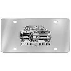 Ford - F Series Truck - Emblem Attached To Stainless Steel Plate